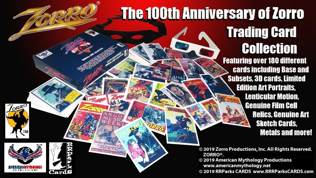 """Project image for """"The 100th Anniversary of Zorro"""" Trading Cards Collection!"""