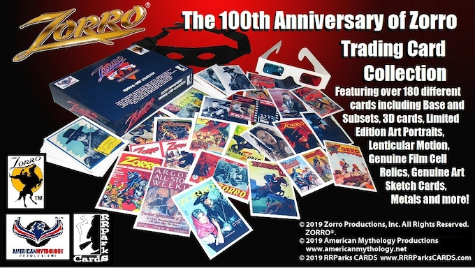 """""""The 100th Anniversary of Zorro"""" Trading Cards Collection!"""