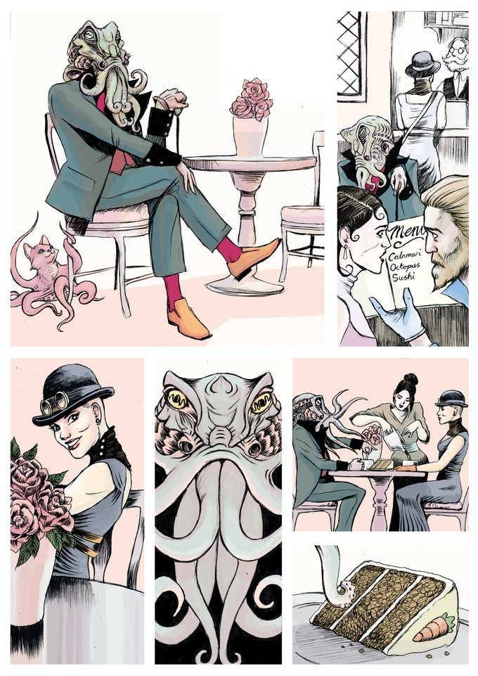 A page from Ian Ashcroft's illustrated Lord Squid.