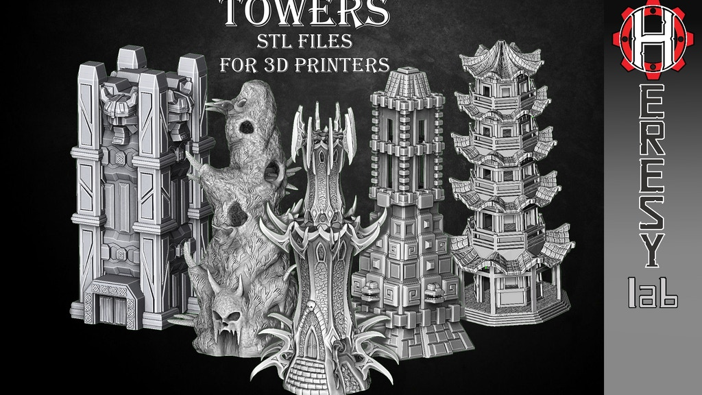 Project image for Fantasy Towers in STL format for 3D printing