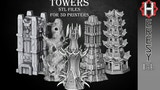 Fantasy Towers in STL format for 3D printing thumbnail
