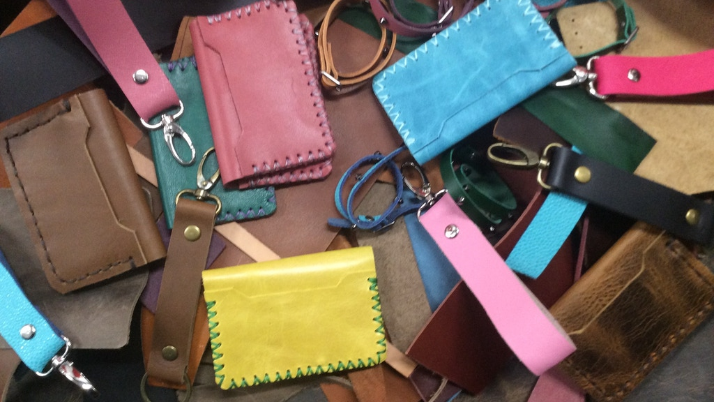 Recycled Hand-stitched Leather Accessories Made From Scraps