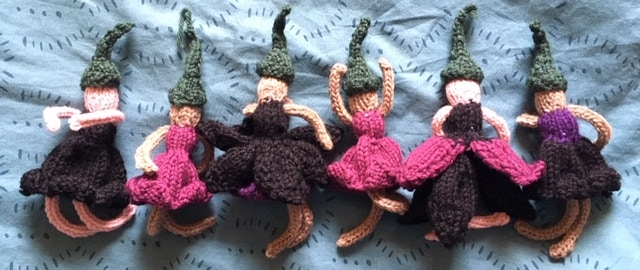 Titania's Flower Fairies, knitted with love by Alex, photographed by Lee