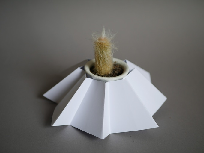 Mini origami pot wrap