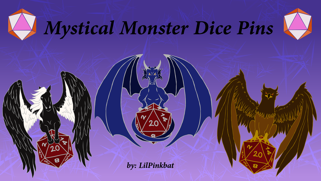 Project image for Mystical Monster Dice Pins
