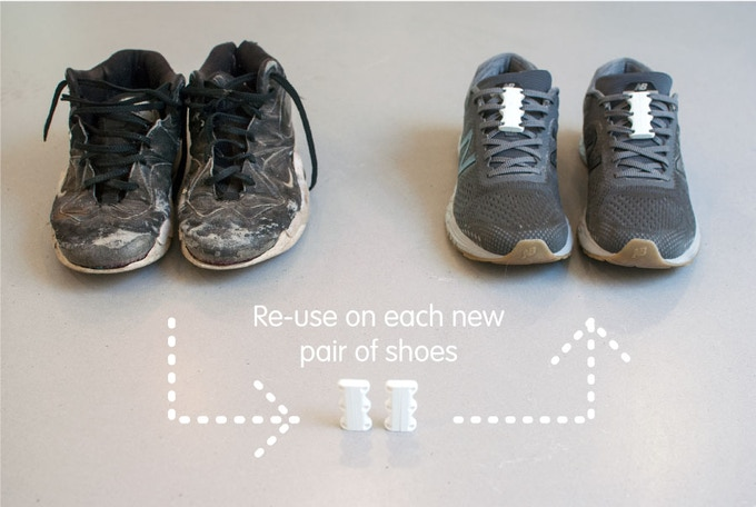 Buy one pair of Zubits and re-use them on all your new pairs of shoes. The magnets never lose their strength.
