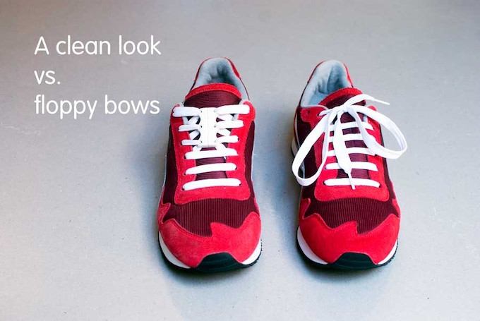 Lose the floppy bows and get a clean looking shoe. Plus, keep the laces that were designed for your shoes.