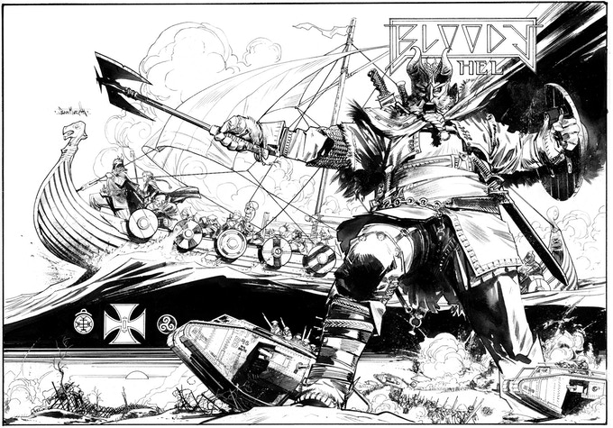 Black and White art for Sean's pin up/dust jacket - final version will be full color!