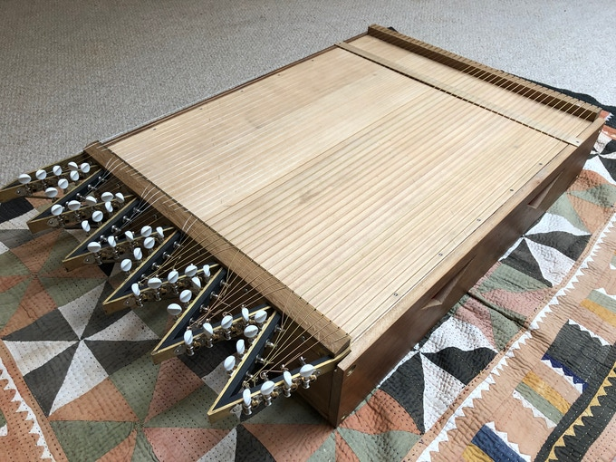Replica of 'Castor' [half of Harmonic Canon 2], built in 2017/18 for Scordatura by David Lavis.
