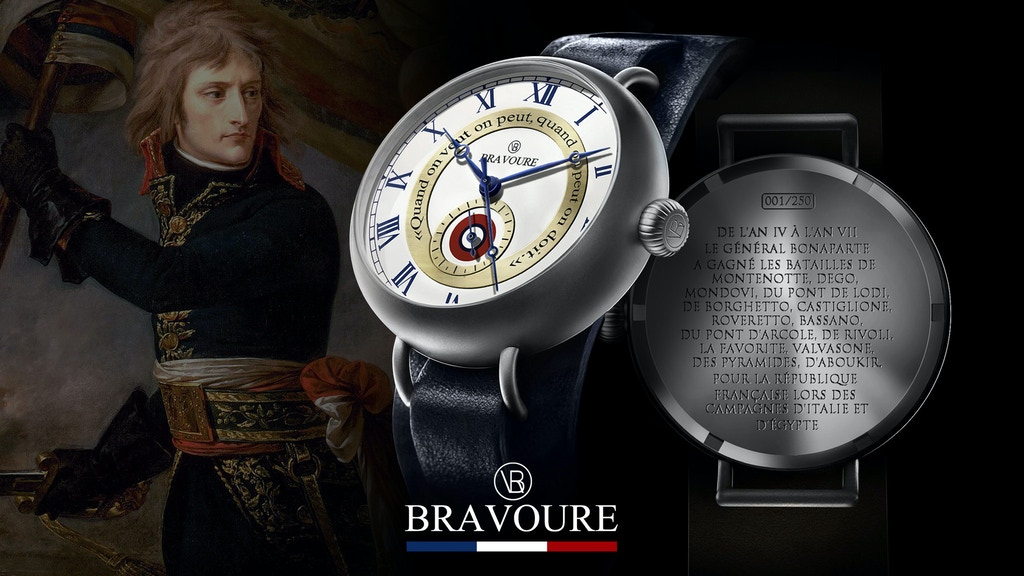 Général Bonaparte Automatic Watch, by BRAVOURE project video thumbnail