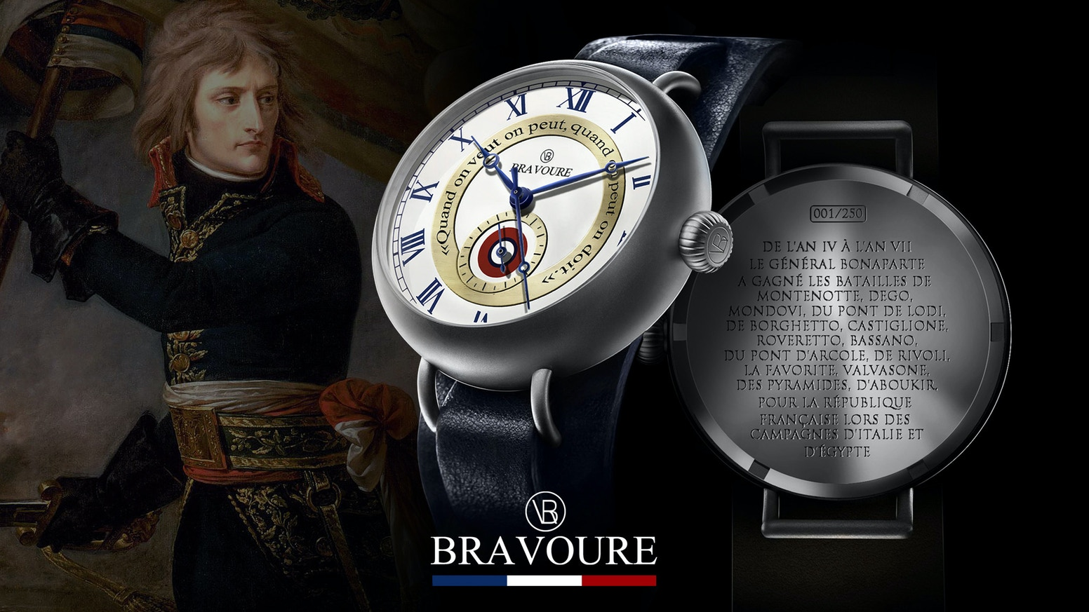Napoleon Tribute Watch, powered by the Miyota 9100 Automatic Movement. Entirely invented and designed in France.