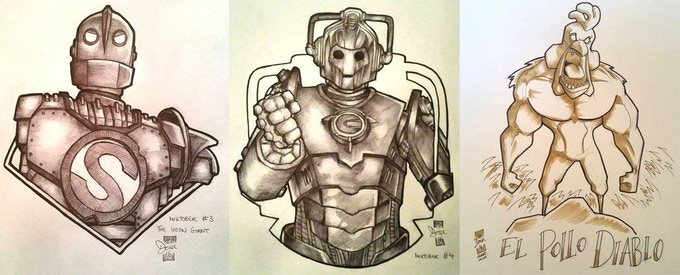 Examples of some Black and white A4 commissions