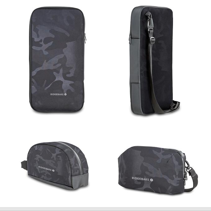 Black Camo Edition: Keyboard Case (Top), Dopp Kit (Left), EDC Pouch (Right)