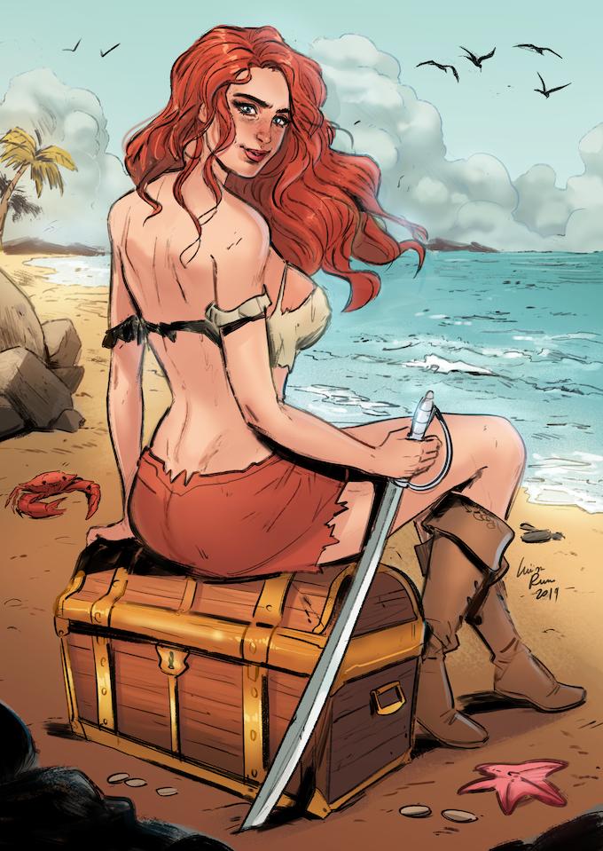 Lady Redbeard Art by Luisa Russo