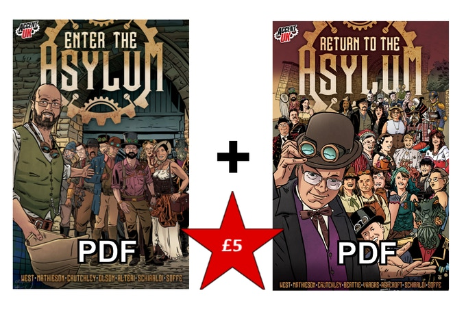Digital copies of both Asylum anthologies - £5