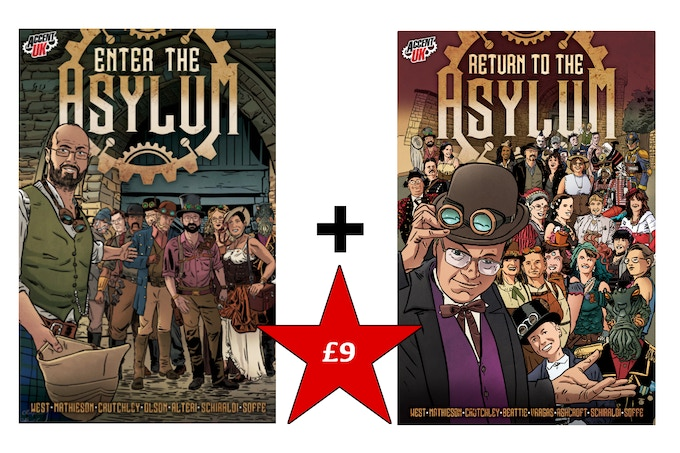 Physical copies of both Asylum anthologies - £9