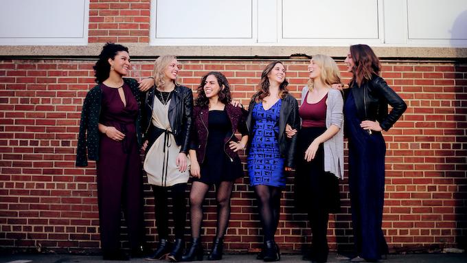It us! L-R Shelley Washington, Gemma Peacocke, Maria Kaoutzani, Finola Merivale, Emma O'Halloran, Susanna Hancock. Photography by Tyler Kline.