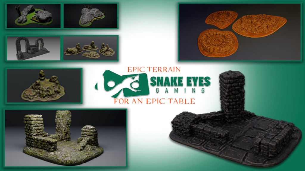 Project image for 3D Printable Tabletop Terrain - The Land of Fel'haven