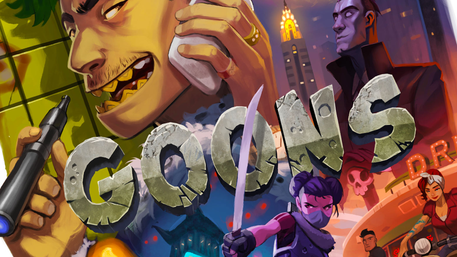 A strategy board game about being the lowest crook on the criminal food chain, the goon!