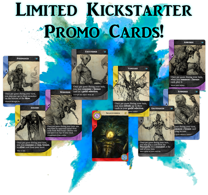(Promo items are only included in the Kickstarter manufacturing run)