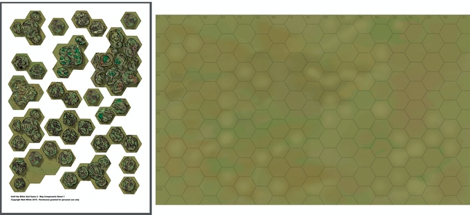 Some of the artwork counters and blank map to create your own scenarios