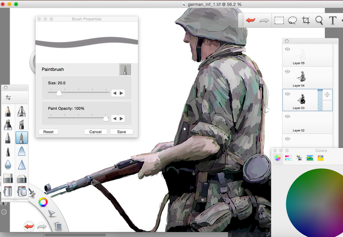 Work in progress - additional German Infantry Counter artwork