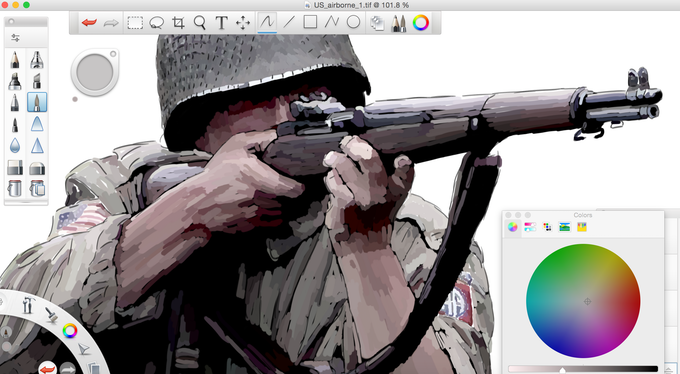 Work in progress - artwork for additional US Airborne Infantry Counter