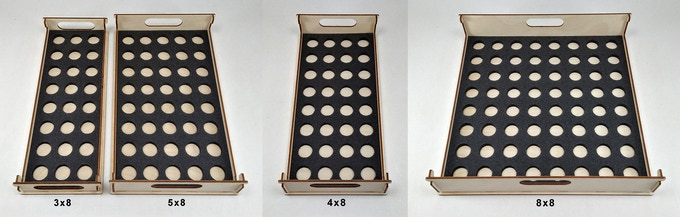Stacking Trays - 3x8, 4x8, 5x8 and 8x8