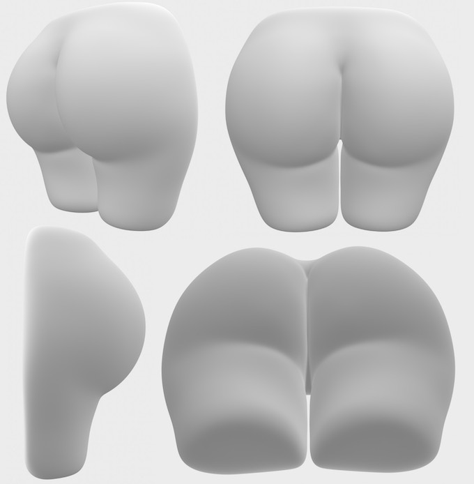 Our OMG 3D Model is ready for the molds! Shown without inner lining or yoga-pant cover