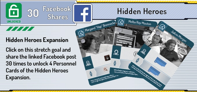 Click on the Stretch Goal to share he linked Facebook post.