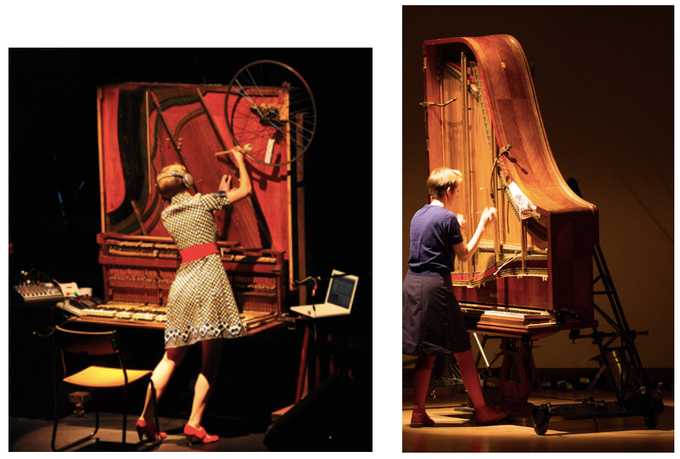 L: Inside-Out Piano I (2008)                                   R: Inside-Out Piano II (2014)
