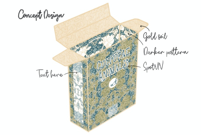 Tuck-box Concept Design (not the final product) - Tuck-box design being created in collaboration with backers!