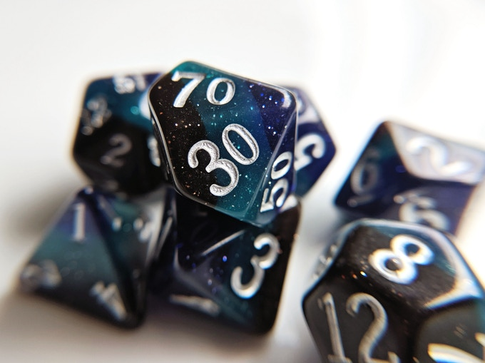 Ether Elemental Resin Dice