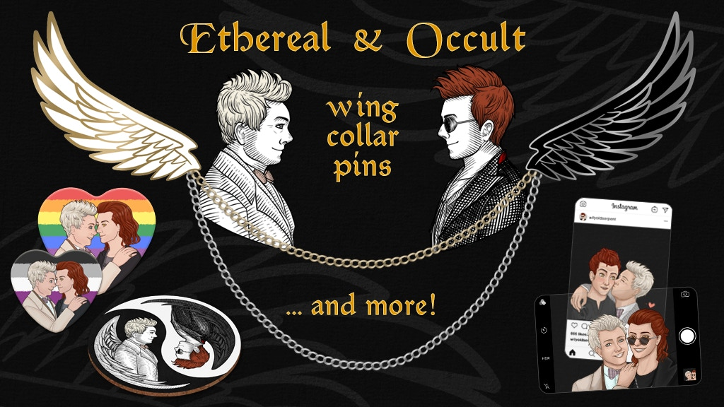 Ethereal & Occult Wing Collar Pins and more! by Twisted Flax