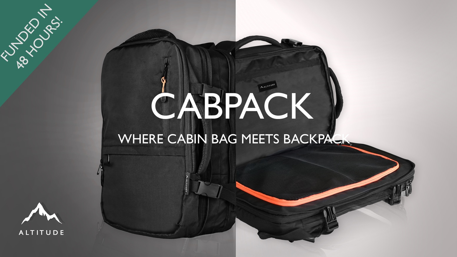 1kg light, double compression, loads of compartments - CABPACK has it all!