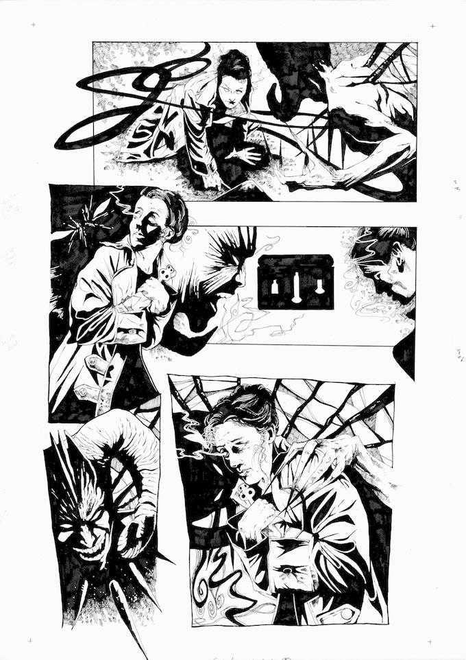 Original Art Page 9 - Adam Jakes - 'Issue #4 'Uncorked' Page 5