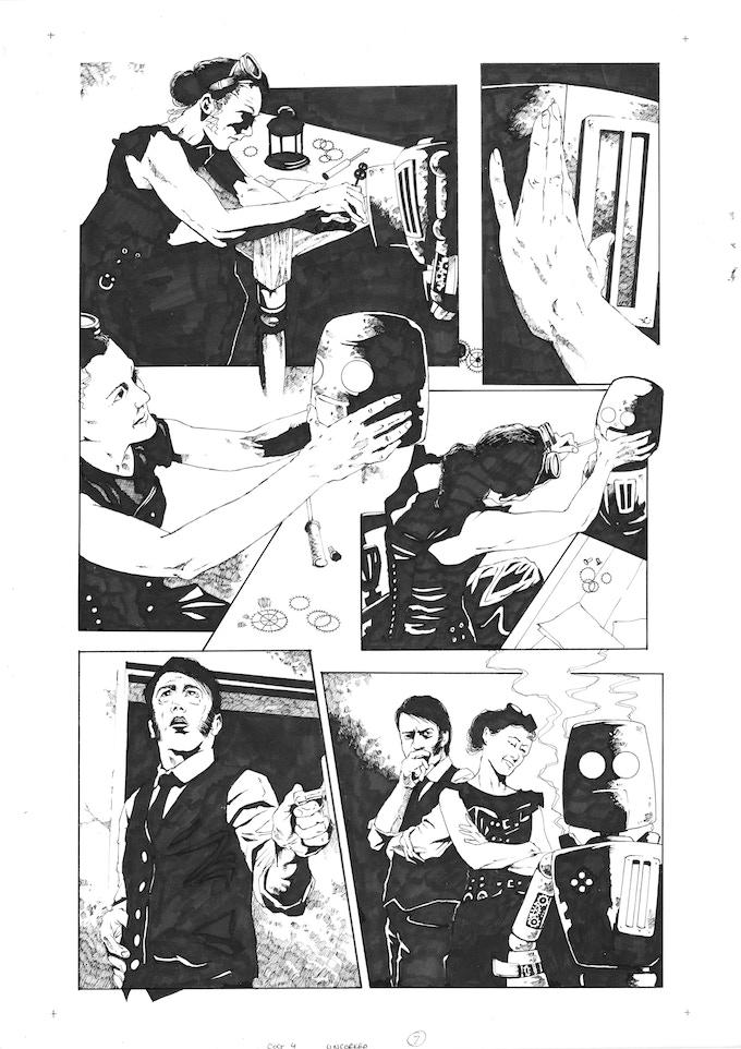 Original Art Page 11 - Adam Jakes - 'Issue #4 'Uncorked' Page 7