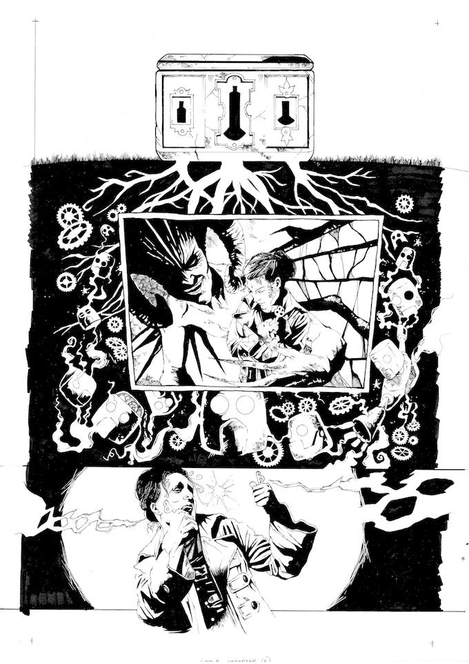 Original Art Page 10 - Adam Jakes - 'Issue #4 'Uncorked' Page 6