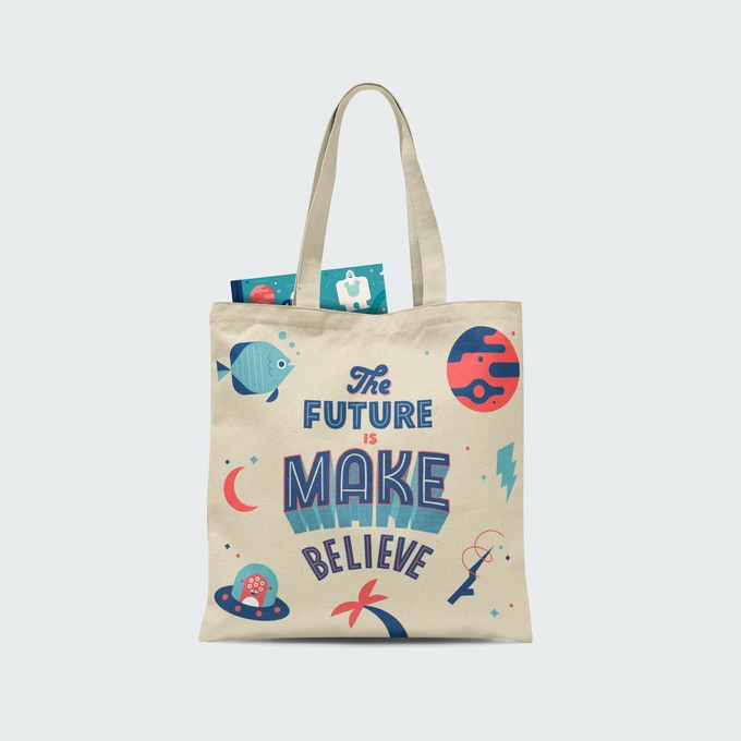 Mock up of book-bag (available in kid and adult sizes)
