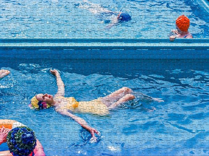 Swimming Ladies Puzzle Pieces