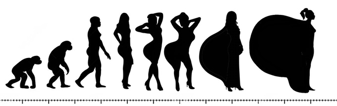 The evolution of butts