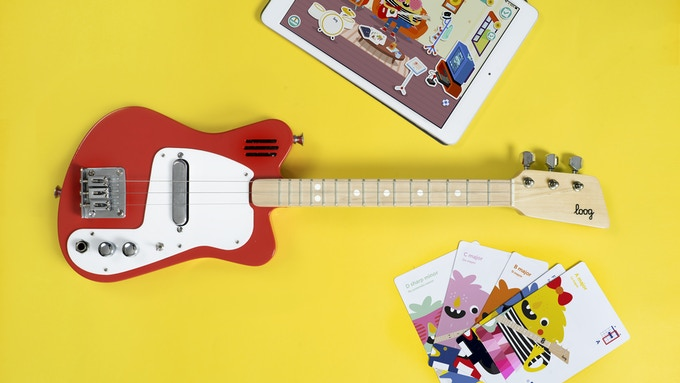 Loog Mini in red. Scroll down to REWARDS to see all available colors.