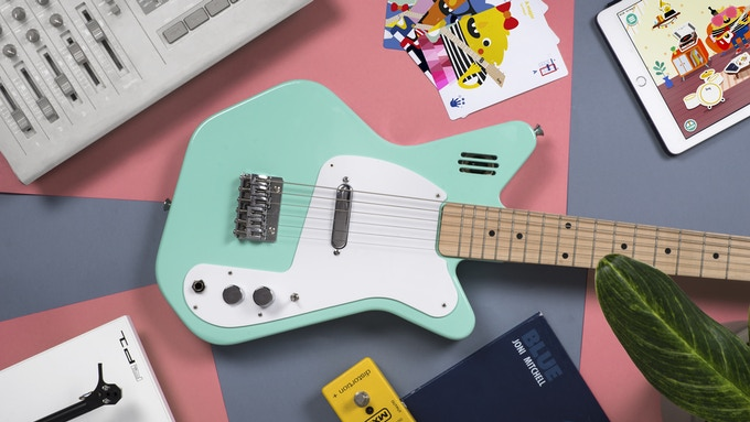 Loog Pro VI Electric in green. Scroll down to REWARDS to see all available colors.