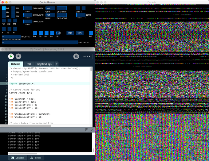 DataViz processing a WannaCry sample