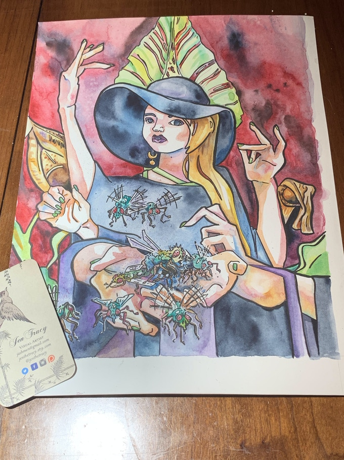 For $300, you can get an exclusive watercolor painting by Jen Tracy.