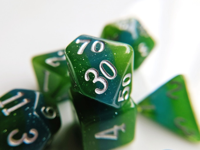 Earth Elemental Resin Dice