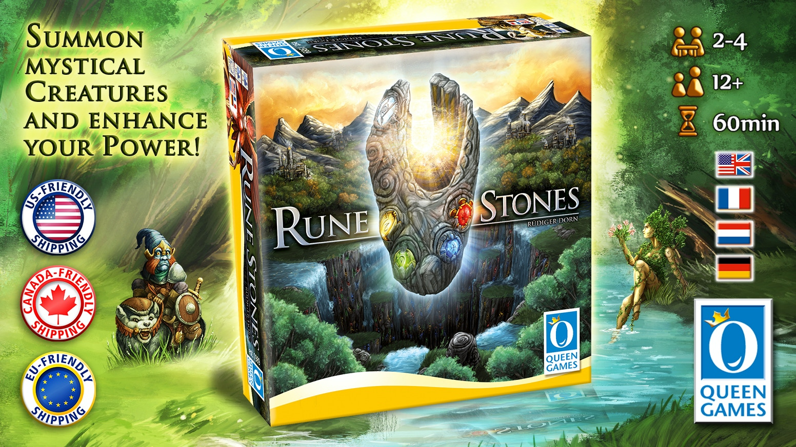 New game by Designer Rüdiger Dorn about the might of the Druids!