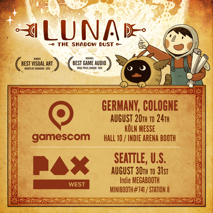 LUNA - The Shadow Dust: A Point and Click Puzzle Adventure