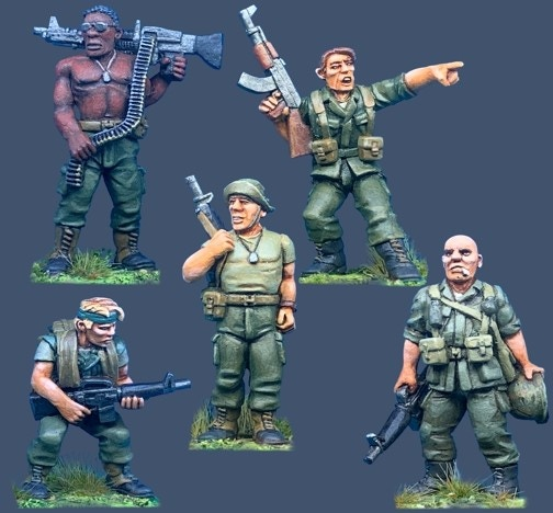 91004 US Army Personalities. All figures come in 28mm scale unpainted white metal with a base.