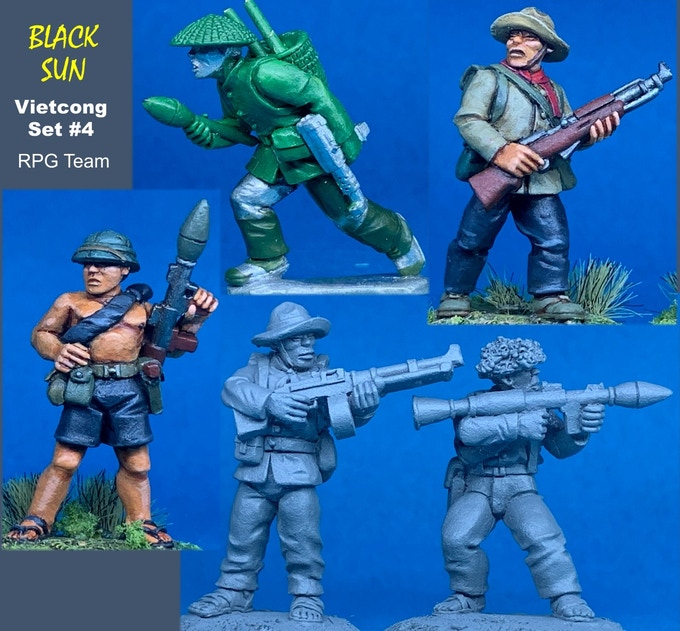 91104 VC with Heavy Weapons. All figures come in 28mm scale unpainted white metal with a base.